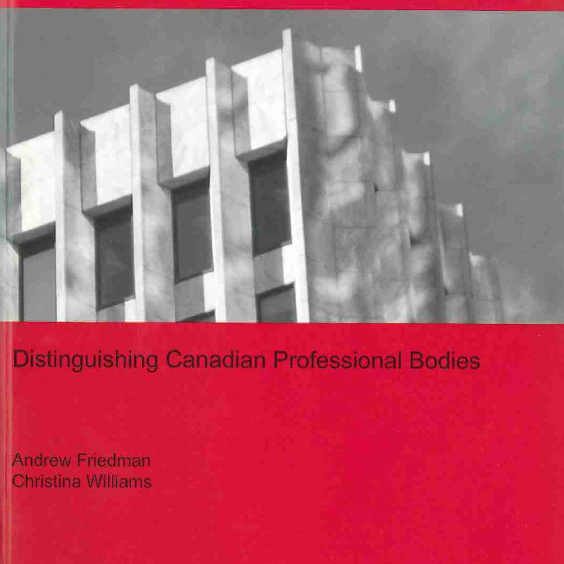 Distinguishing Canadian Professional Bodies (2007)